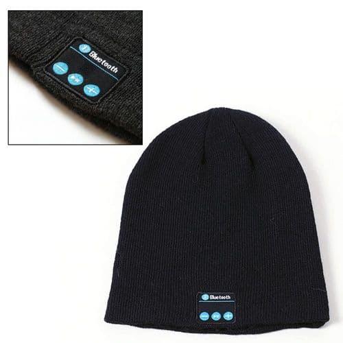 Bonnet Écouteur Casque Audio En Laine Avec Connexion Sans Fil Bluetooth V5.0
